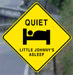 Little Johnny Sleeping Sign