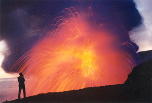 Man Photographing Lava