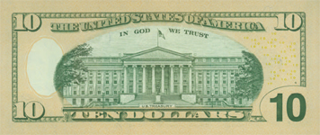 New Ten Dollar Bill Back