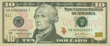 New Ten Dollar Bill Front