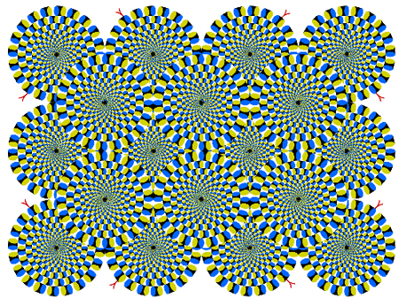 Rotating Snakes Optical Illusion