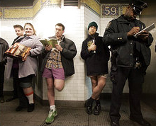 New York Subway Pants-Down Time