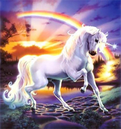 Unicorn with Raibow